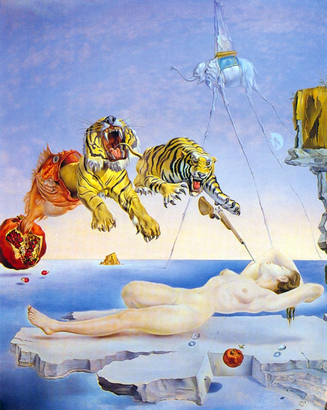 Salvador Dali One Second Before Awakening From A Dream Caused By