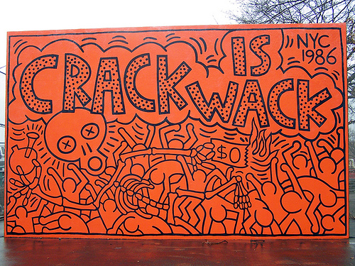 Keith haring crack is wack 3rd eye drops for Crack is wack mural